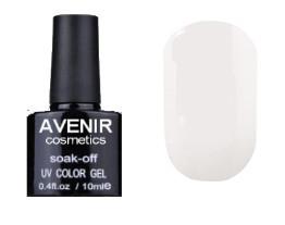 Гель-лак AVENIR Cosmetics №1. Біла емаль френч