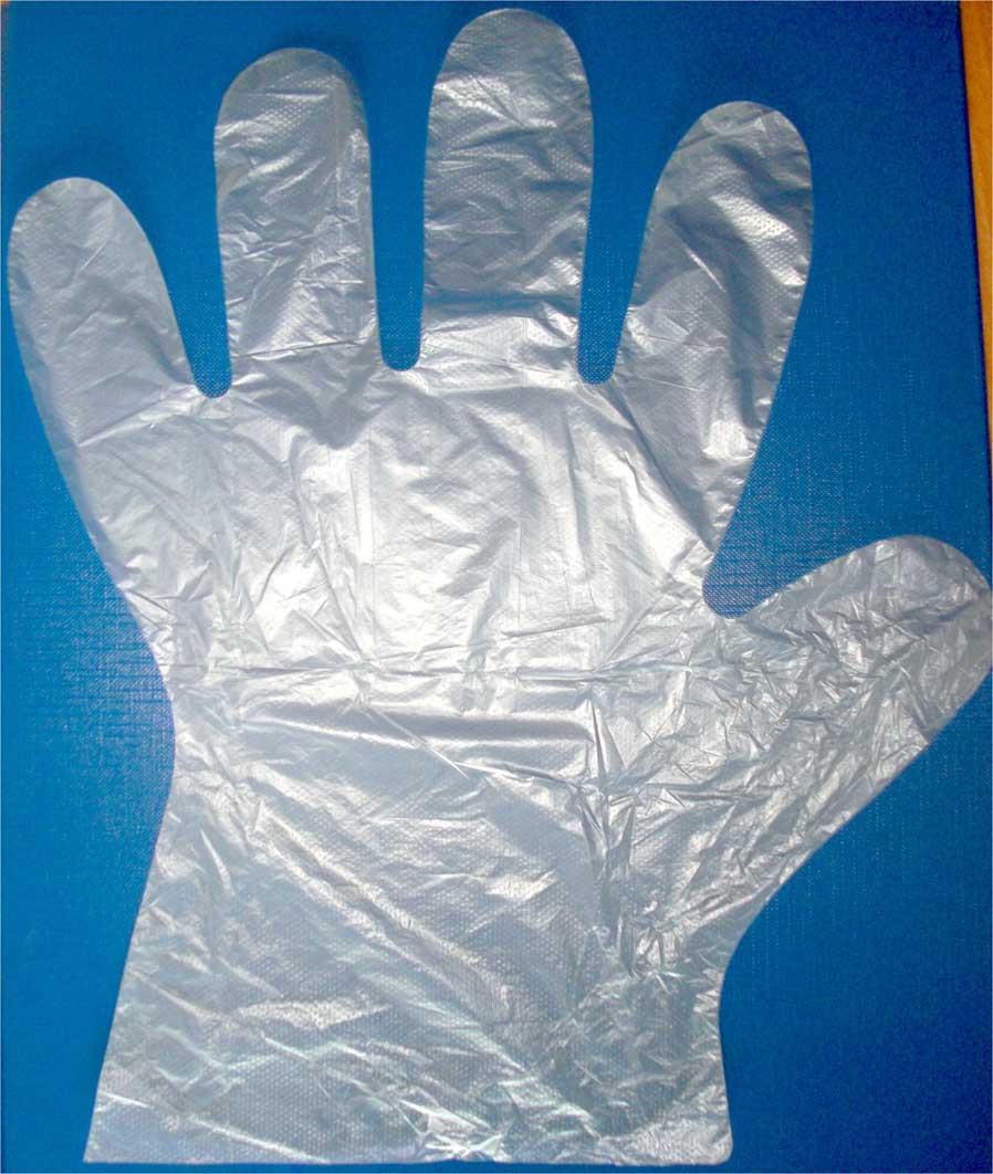 Перчатки одноразовые полиэтиленовые (100шт в упаковке)