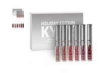 Kylie Holiday Edition - набор матовых помад 6 шт люксовая реплика