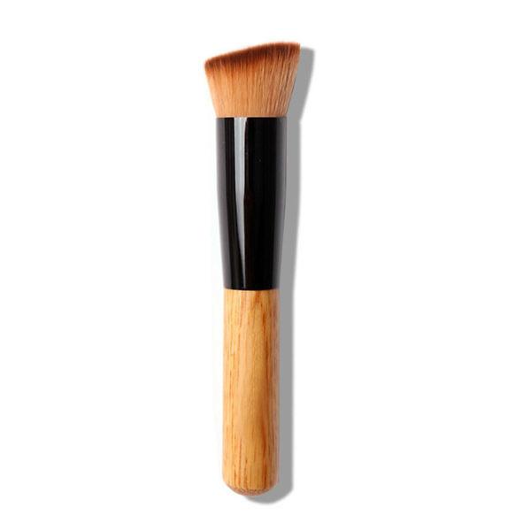 Кисть для макіяжу багатофункціональна з дерев'яною ручкою