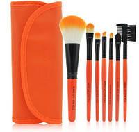 Набор кистей для макияжа в стиле Make up for you оранжевые
