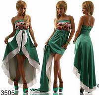 Платье Норма Ассиметричный атлас-2