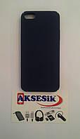 Задняя накладка PC Soft Touch Case iPhone 5/5s синяя