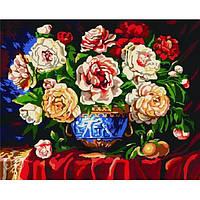 Картина 40х50 Разноцветные чайные розы. Рисование по номерам Идейка