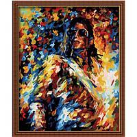 Картина 40х50 Майкл Джексон. Рисование по номерам Идейка