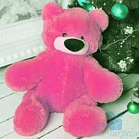 Маленькая мягкая игрушка Плюшевый мишка Бублик 55 см (ярко-розовый), фото 1