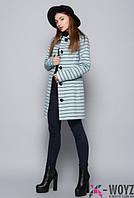 Стильное женское пальто осень весна   PL-8586  нефрит  42-48 размеры