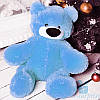 Маленькая мягкая игрушка Плюшевый медведь Бублик 55 см (голубой)