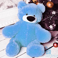 Маленькая мягкая игрушка Плюшевый медведь Бублик 55 см (голубой), фото 1