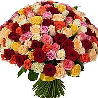 """101 роза """"Ассорти"""""""
