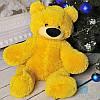 Красивый плюшевый медвежонок Бублик 55 см (жёлтый)