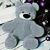Красивый плюшевый медведь Бублик 55 см (серый)