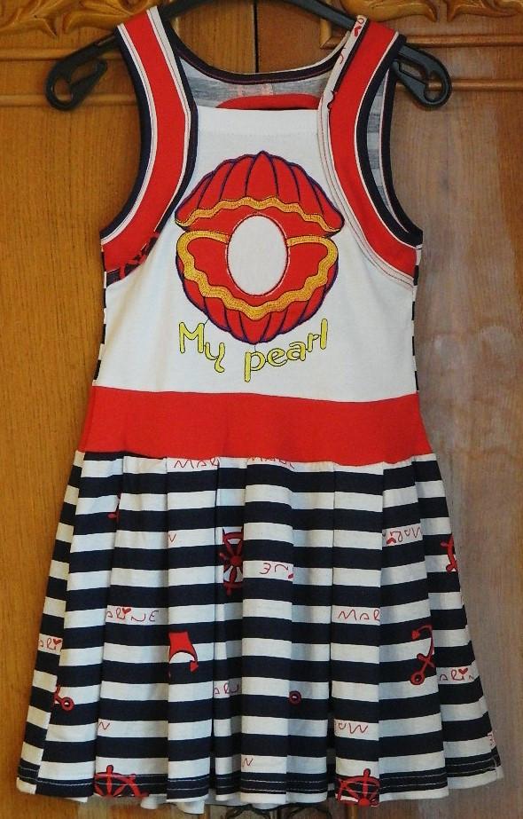 """Летний сарафан для девочки """"Морячка"""". Размеры на рост от 122-140 см - Детская одежда для самых любимых в Винницкой области"""