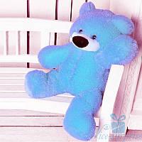 Мягкая игрушка Плюшевый мишка Бублик 70 см (голубой), фото 1