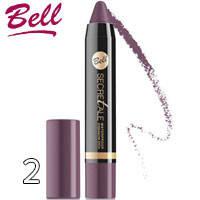 Bell Secretale - Тени-карандаш для век водостойкие Waterproof Stick Тон 02 темные сиреневые