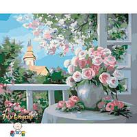 Картина 40х50 Шарм цветущего сада. Рисование по номерам Идейка