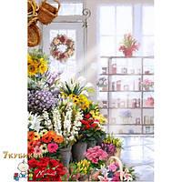 Картина 40х50 В цветочном магазине. Рисование по номерам Идейка