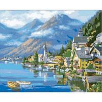 Картина 40х50 Австрийский пейзаж. Рисование по номерам Идейка