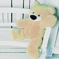 Мягкая игрушка Плюшевый медведь Бублик 70 см (персиковый), фото 1