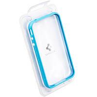 Пластиковый бампер для iPhone 4S голубой