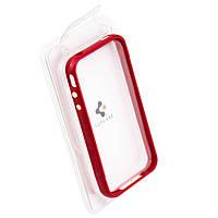 Пластиковый бампер для iPhone 4S красный