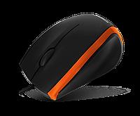 Мышь USB Crown CMM-009 черная с оранжевым