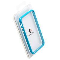 Чехол бампер для iPhone 4S пластик голубой