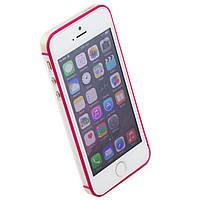 Чехол бампер для iPhone 5S Vser розовый