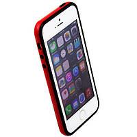 Чехол бампер для iPhone 5S Bampers черно-красный