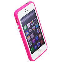Чехол бампер для iPhone 5S Bampers розовый