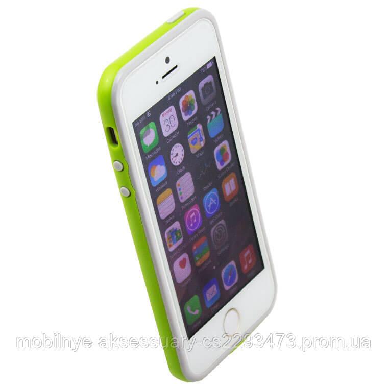 Чехол бампер для iPhone 5S Bampers салатово-серый - МобАкс в Харькове