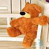 Красивая мягкая игрушка Плюшевый медведь Бублик 70 см (коричневый)