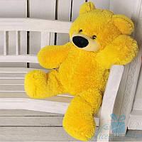Красивый плюшевый медведь Бублик 70 см (жёлтый), фото 1
