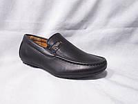 Детские туфли оптом, 22-27 р., мокасины с шильдиком черные