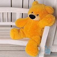 Красива м'яка іграшка Плюшевий ведмедик Бублик 70 см (медовий), фото 1