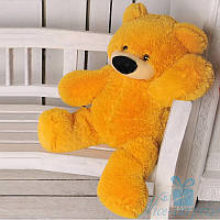 Красивая мягкая игрушка Плюшевый медвежонок Бублик 70 см (медовый), фото 1