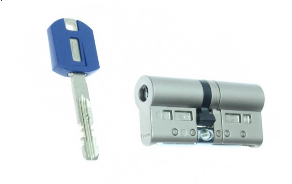 Цилиндр TOKOZ PRO 80 30x50 (никель мат.) ключ/ключ