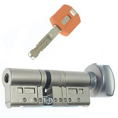 Цилиндр TOKOZ PRO 60 30x30Т (Никель мат.) ключ/тумблер