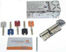 Цилиндр TOKOZ PRO 75 30x45Т (Хром мат.) ключ/тумблер