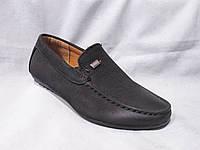 Детские туфли оптом, 22-27 р., мокасины с шильдиком, черный замш