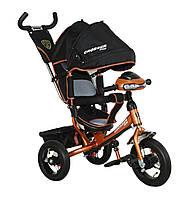 Велосипед детский трехколесный Crosser One T1 AIR, черно-коричневый