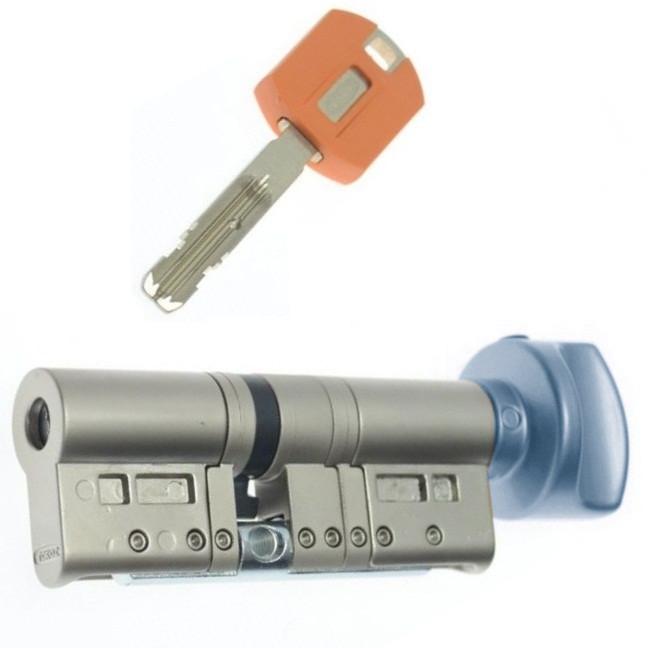 Цилиндр TOKOZ PRO 105 40x65Т (Хром мат.) ключ/тумблер