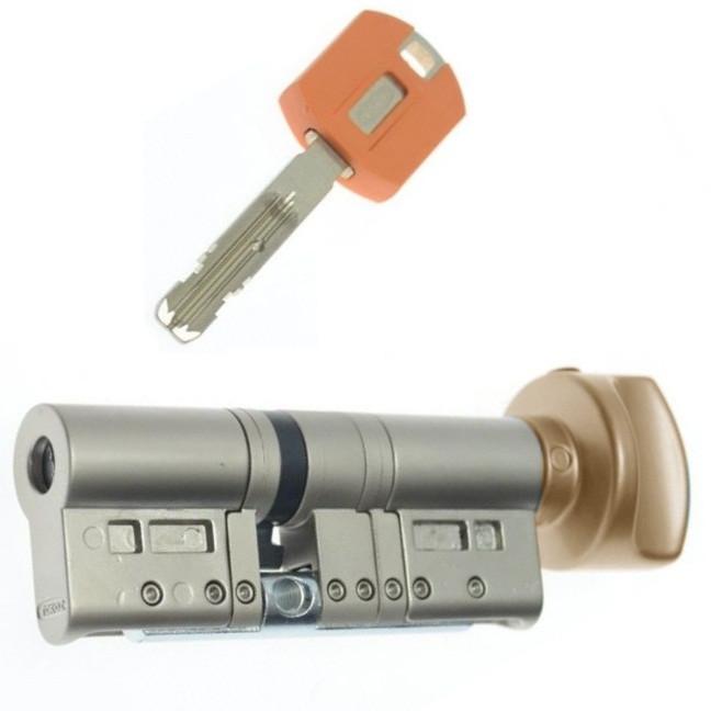 Цилиндр TOKOZ PRO 80 45x35Т (Бронза) ключ/тумблер