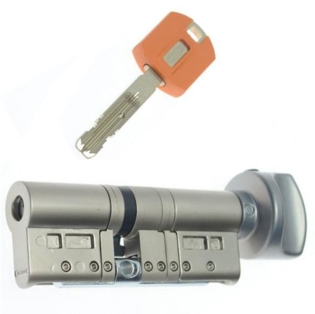 Цилиндр TOKOZ PRO 85 45x40Т (Никель мат.) ключ/тумблер
