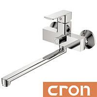 Смеситель для ванны длинный нос Cron Kubus Euro (Chr-006)