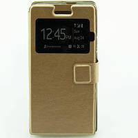 Чехол-книжка два окна MOMAX Huawei P6 золотистый