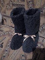 Удобные сапожки, чуни, домашние тапочки из овчины