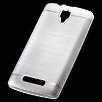 Чехол силиконовый Lenovo A1000 матовый белый