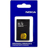Аккумулятор Nokia BL-5J 1320 mAh 5228, 5230, 5233 Original
