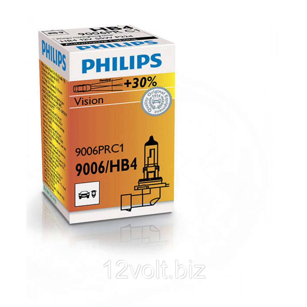 Лампа галогенна Philips HB4 Vision, 3200K, 1шт/картон 9006PRC1